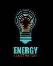 Bulb energy design over back background vector illustration Royalty Free Stock Image