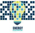 Bulb energy design over colorful squares background vector illustration Royalty Free Stock Photo