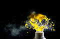 Bulb explosion close up image of electric Stock Photo