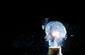 Bulb explosion close up image of electric Stock Photography