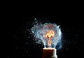 Bulb explosion close up image of electric Royalty Free Stock Photography