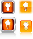 Bulb  icons. Stock Photos