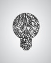 Bulb idea design Royalty Free Stock Photos