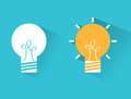 Bulb idea design over blue background vector illustration Stock Photography