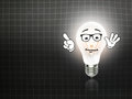 Bulb  lamp light idea background blackboard Royalty Free Stock Photo