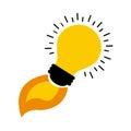 Bulb light design Royalty Free Stock Photo