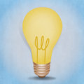 Bulb light illustration Royalty Free Stock Photos