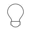 Bulb light isolated icon