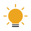 Bulb light isolated icon