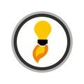 Bulb light start up isolated icon