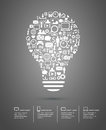 Bulb Made From Icons Concept I...