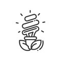 Bulb - modern vector single line icon