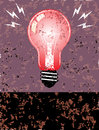 Bulb poster color grunge vector eps Royalty Free Stock Image