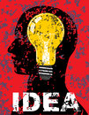 Bulb poster color grunge vector eps Royalty Free Stock Photo