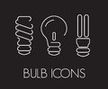 Bulb thin icons vector illustration of Stock Photo