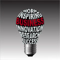Bulb of work inspiration business innovation research success Royalty Free Stock Photo