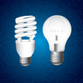 Bulbs design over blue background vector illustration Royalty Free Stock Photography