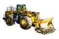 Buldozer illustration color art i am a traditional artist this is a handmade drawing on paper i use pencil for this the is added Royalty Free Stock Photo