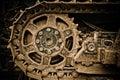 Buldozer wheel Royalty Free Stock Photo