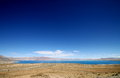 Bule sky and lake blue blue in tibet Stock Images