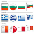 Bulgaria and Greece, Malta Flag Icon. The world national Icon De Royalty Free Stock Photo