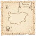 Bulgaria old pirate map.