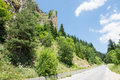 Bulgaria. The road in the Rhodopes Royalty Free Stock Photo