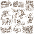 Bulgaria traveling series part collection of an hand drawn illustrations description full sized hand drawn illustrations isolated Royalty Free Stock Images