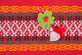 Bulgarian Martenitsa. Martenitsa is a piece of adornment, made o Royalty Free Stock Photo