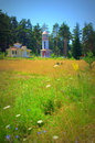 Bulgarian mountain church view Royalty Free Stock Photo