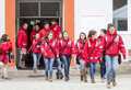 Bulgarian red cross youth brcy voluntary organization sofia bulgaria december members from are participating in a training Royalty Free Stock Photos