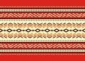 Bulgarian seamless decorative traditional national design pattern Royalty Free Stock Photos