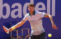 Bulgarian tennis player grigor dimitrov in action during a match of barcelona tournament conde de godo on april in Stock Photo