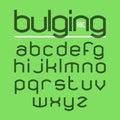 Bulging typeface Royalty Free Stock Photo