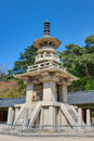 Bulguksa stone pagoda dabotap gyeongju city south korea Royalty Free Stock Photos