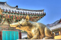 Bulguksa temple gyeongju city south korea Royalty Free Stock Photo