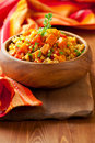Bulgur  with vegetables Stock Photography