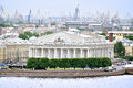 Buliding of saint petersburg stock exchange at vasilyevsky island view from height russia june bourse building the Stock Image