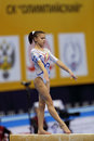 Bulimar diana laura moscow apr european artistic gymnastics championships romanian gymnast acts on the balance beam in olympic Royalty Free Stock Photos