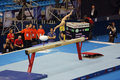 Bulimar diana laura moscow apr european artistic gymnastics championships romanian gymnast acts on the balance beam in olympic Stock Photo