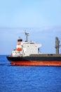 Bulk cargo ship in odessa harbor quayside Stock Photo