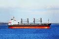 Bulk cargo ship in odessa harbor quayside Stock Photos