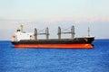 Bulk cargo ship in odessa harbor quayside Royalty Free Stock Photo