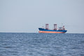 Bulk carrier dry cargo in ballast entering the port Stock Photos