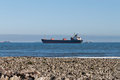 Bulk carrier ship beach Stock Photography