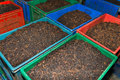 Bulk tea in boxes Royalty Free Stock Photo