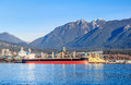 Bulk terminal in north vancouver canada Royalty Free Stock Photo
