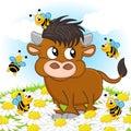 Bull and bee