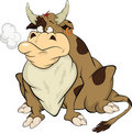 Bull. Cartoon Royalty Free Stock Image