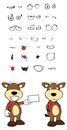 Bull cartoon expressions set in vector format very easy to edit Royalty Free Stock Images